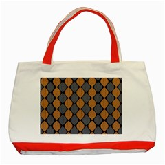 Abstract Seamless Pattern Classic Tote Bag (red)