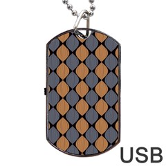 Abstract Seamless Pattern Dog Tag Usb Flash (two Sides)