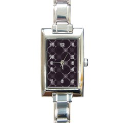 Abstract Seamless Pattern Rectangle Italian Charm Watch