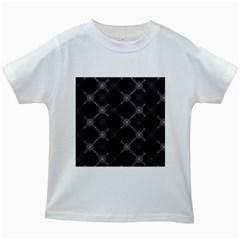 Abstract Seamless Pattern Kids White T Shirts