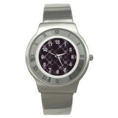 Abstract Seamless Pattern Stainless Steel Watch