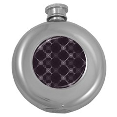 Abstract Seamless Pattern Round Hip Flask (5 Oz)