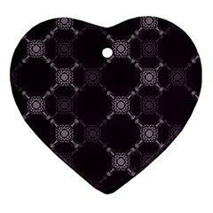Abstract Seamless Pattern Heart Ornament (two Sides)