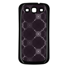 Abstract Seamless Pattern Samsung Galaxy S3 Back Case (black)