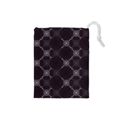 Abstract Seamless Pattern Drawstring Pouches (small)