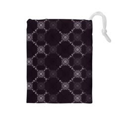 Abstract Seamless Pattern Drawstring Pouches (large)