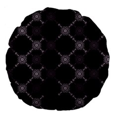 Abstract Seamless Pattern Large 18  Premium Flano Round Cushions