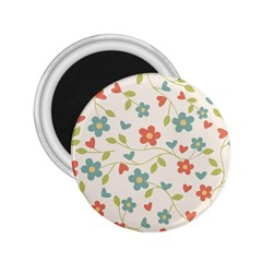 Abstract Vintage Flower Floral Pattern 2 25  Magnets