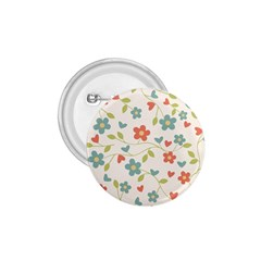 Abstract Vintage Flower Floral Pattern 1 75  Buttons