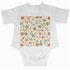 Abstract Vintage Flower Floral Pattern Infant Creepers