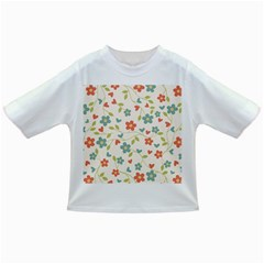 Abstract Vintage Flower Floral Pattern Infant/toddler T Shirts