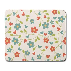 Abstract Vintage Flower Floral Pattern Large Mousepads