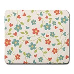 Abstract Vintage Flower Floral Pattern Large Mousepads Front