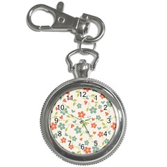 Abstract Vintage Flower Floral Pattern Key Chain Watches