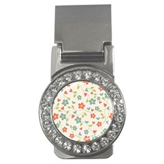 Abstract Vintage Flower Floral Pattern Money Clips (CZ)