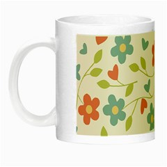 Abstract Vintage Flower Floral Pattern Night Luminous Mugs