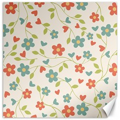 Abstract Vintage Flower Floral Pattern Canvas 12  X 12