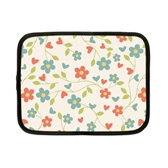 Abstract Vintage Flower Floral Pattern Netbook Case (small)