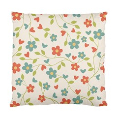 Abstract Vintage Flower Floral Pattern Standard Cushion Case (two Sides)