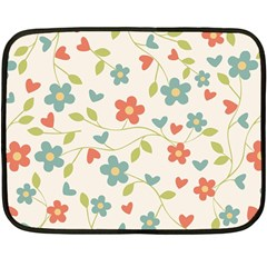 Abstract Vintage Flower Floral Pattern Fleece Blanket (mini)