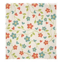 Abstract Vintage Flower Floral Pattern Shower Curtain 66  X 72  (large)