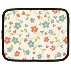 Abstract Vintage Flower Floral Pattern Netbook Case (xl)