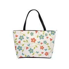 Abstract Vintage Flower Floral Pattern Shoulder Handbags