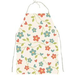 Abstract Vintage Flower Floral Pattern Full Print Aprons