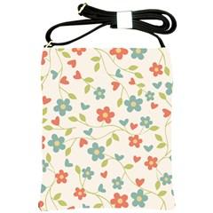 Abstract Vintage Flower Floral Pattern Shoulder Sling Bags