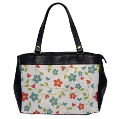 Abstract Vintage Flower Floral Pattern Office Handbags