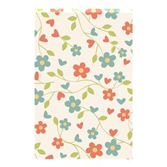 Abstract Vintage Flower Floral Pattern Shower Curtain 48  X 72  (small)
