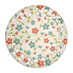 Abstract Vintage Flower Floral Pattern Ornament (round Filigree)