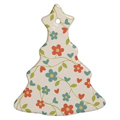 Abstract Vintage Flower Floral Pattern Ornament (christmas Tree)