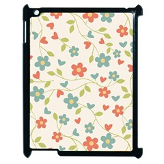 Abstract Vintage Flower Floral Pattern Apple Ipad 2 Case (black)