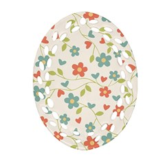 Abstract Vintage Flower Floral Pattern Ornament (oval Filigree)