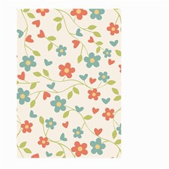 Abstract Vintage Flower Floral Pattern Large Garden Flag (two Sides)