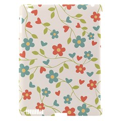 Abstract Vintage Flower Floral Pattern Apple Ipad 3/4 Hardshell Case (compatible With Smart Cover)