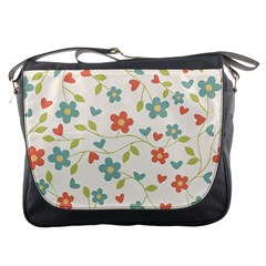 Abstract Vintage Flower Floral Pattern Messenger Bags