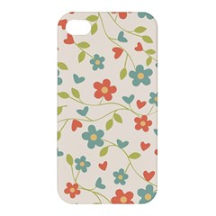 Abstract Vintage Flower Floral Pattern Apple Iphone 4/4s Premium Hardshell Case