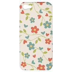 Abstract Vintage Flower Floral Pattern Apple Iphone 5 Hardshell Case