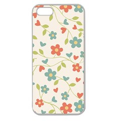 Abstract Vintage Flower Floral Pattern Apple Seamless iPhone 5 Case (Clear)