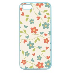 Abstract Vintage Flower Floral Pattern Apple Seamless Iphone 5 Case (color)