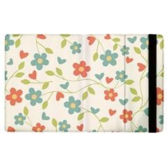 Abstract Vintage Flower Floral Pattern Apple Ipad 2 Flip Case