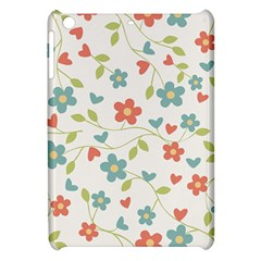 Abstract Vintage Flower Floral Pattern Apple Ipad Mini Hardshell Case