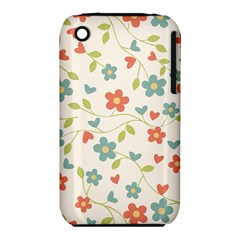Abstract Vintage Flower Floral Pattern Iphone 3s/3gs