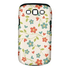 Abstract Vintage Flower Floral Pattern Samsung Galaxy S Iii Classic Hardshell Case (pc+silicone)