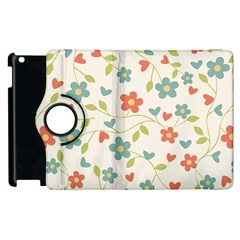 Abstract Vintage Flower Floral Pattern Apple Ipad 3/4 Flip 360 Case