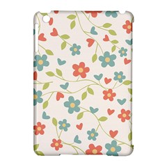 Abstract Vintage Flower Floral Pattern Apple Ipad Mini Hardshell Case (compatible With Smart Cover)