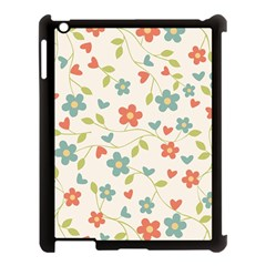 Abstract Vintage Flower Floral Pattern Apple Ipad 3/4 Case (black)