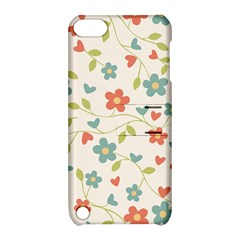 Abstract Vintage Flower Floral Pattern Apple Ipod Touch 5 Hardshell Case With Stand